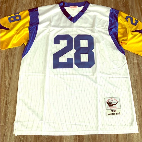 separation shoes 545e6 3e2d1 St. Louis Rams Marshall Faulk Throwback Jersey NWT NWT